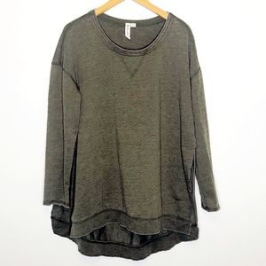 Others Follow | Olive Hi/Lo Sweatshirt Tunic M